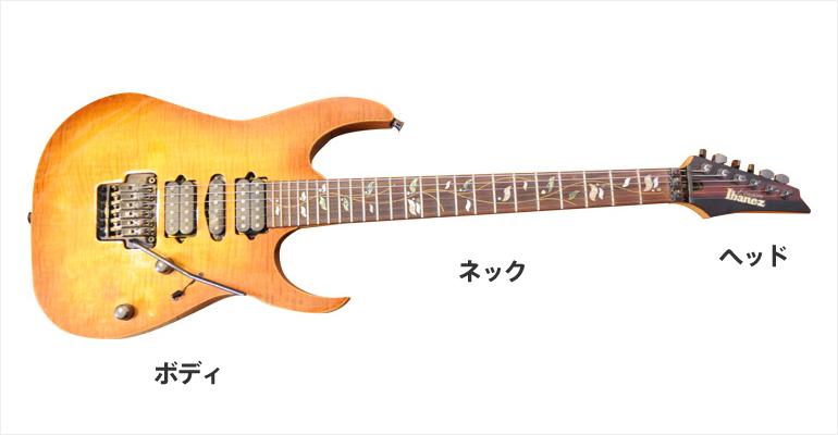 エレキギターの部位