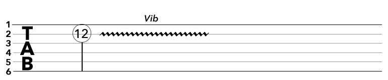 TAB譜のビブラートの記号