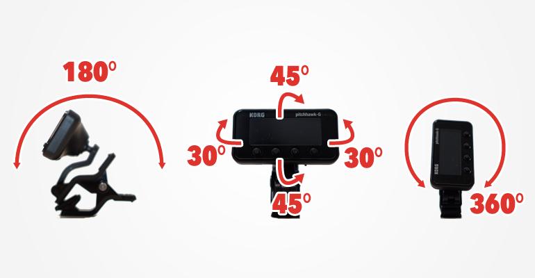 PitchHawk-G AW-3Gの可動範囲