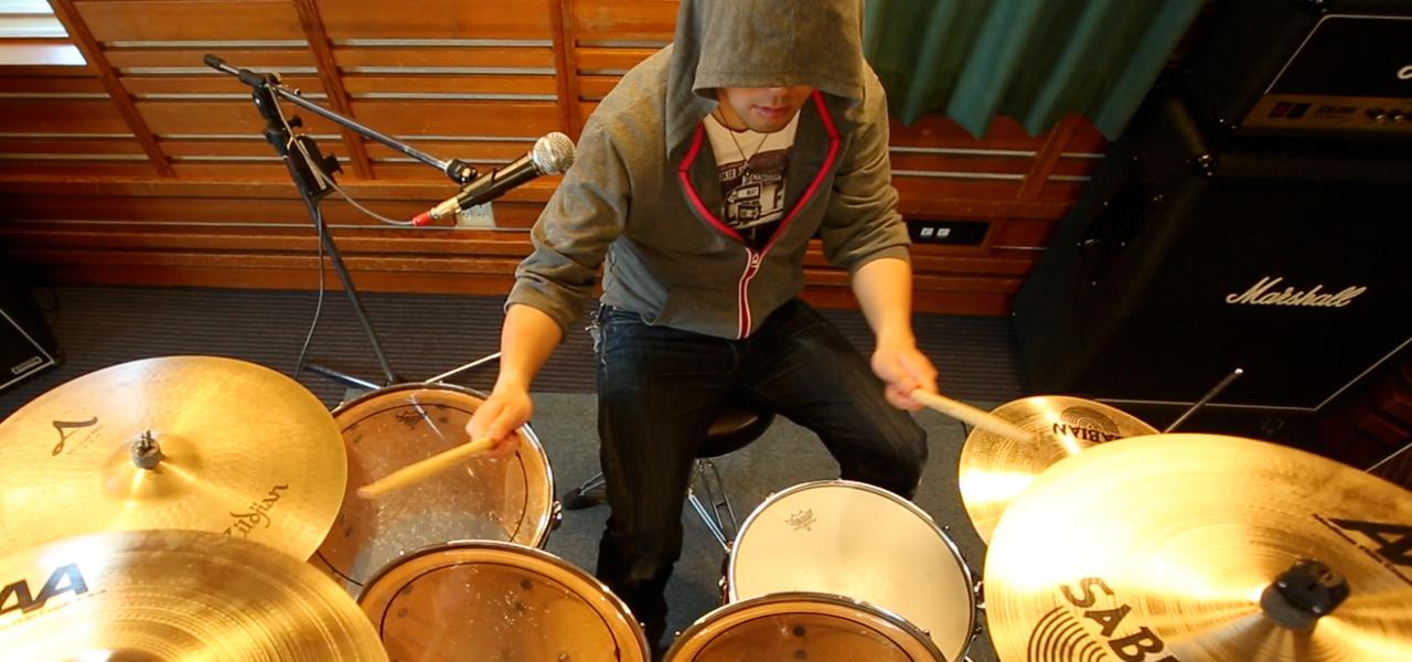 ドラム初心者さん向け8ビートの課題曲の演奏