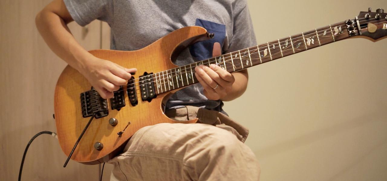 6弦の開放を弾く