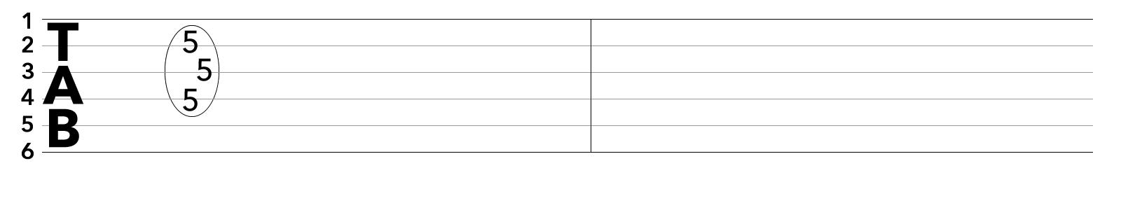 tab譜ブリッジミュートを使ったアルペジオの課題練習フレーズ2/2